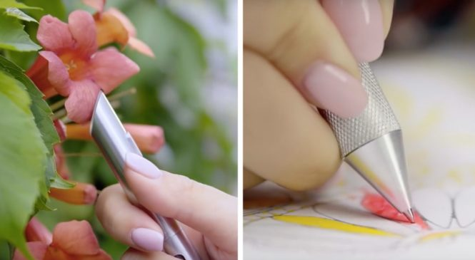 Creative people can enrich their colors with this pen